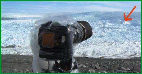 Фотографы оставили камеру на льду. После просмотра снимков они не на шутку встревожились…