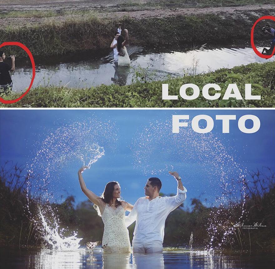 Фотограф раскрыл секрет своей работы. Вот так это выглядит на самом деле