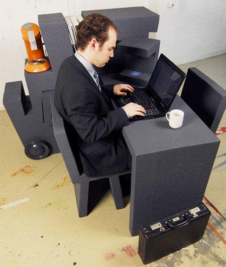 современный портативный офис Тима Винке