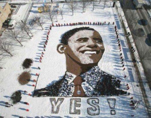 изображение на Земле Дэниела Дансера Барак Обама