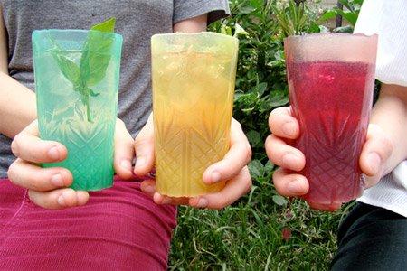 желе бокалы с тремя вкусами