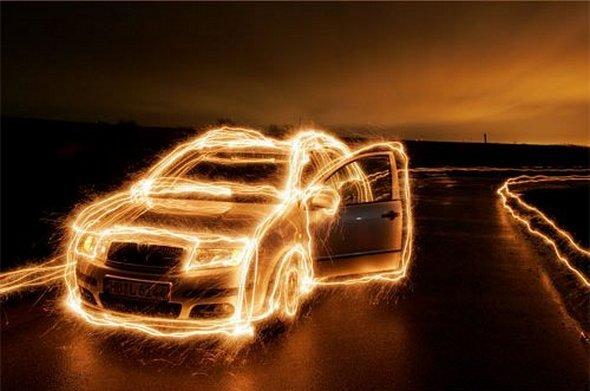 удивительные световые фотографии