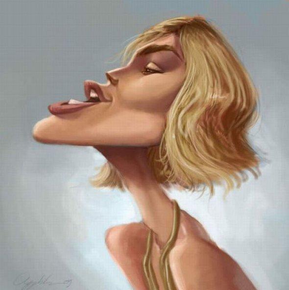 смешная карикатура на Кира Найтли