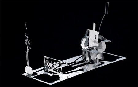 поразительные скульптуры из визитки