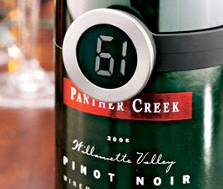 Бутылка вина термометр