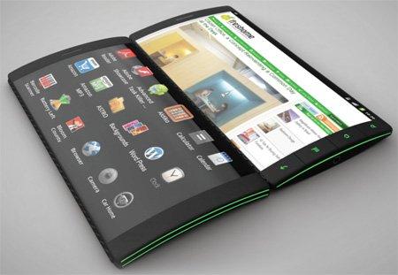 гаджеты нового поколения андроид смартфон с 3-мя экранами