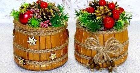 Идея для Нового года. Шкатулка для украшения как подарок, сделанная своими руками