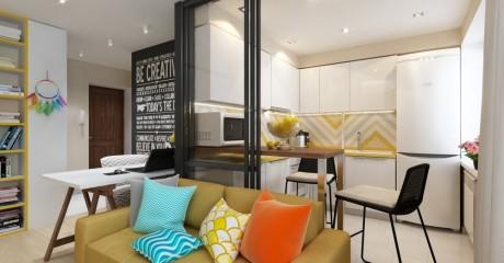 Какие правило надо нарушить при создании дизайна маленькой квартиры