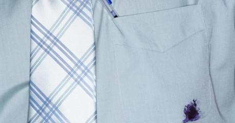 Как вывести чернильное пятно с одежды без химчистки?