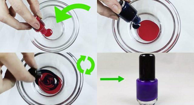 Как получить новый оттенок лака для ногтей в домашних условиях