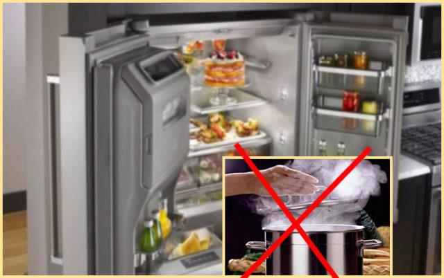 Чем опасны горячие продукты для холодильника