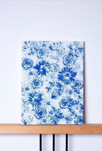 Как нарисовать картину цветочными бутонами