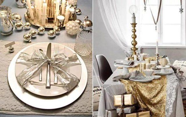 Накрываем новогодний стол к приходу Белой Металлической Мыши