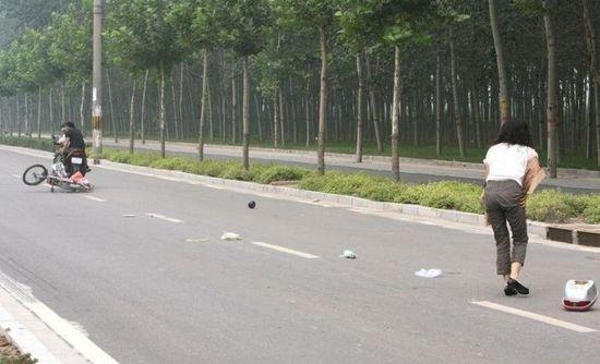 Удрать с места аварии по-китайски (7 фото)