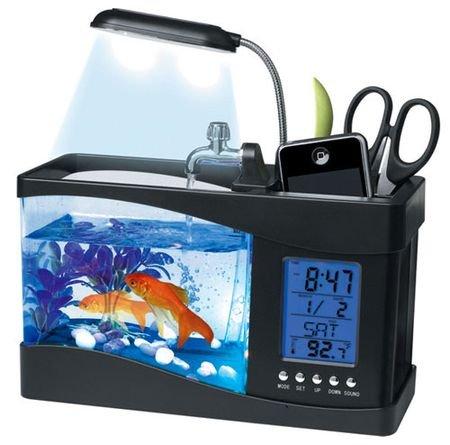 Настольный USB-аквариум с настоящей рыбкой