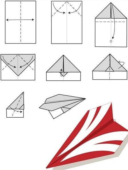 Как сложить бумажный самолетик (12 фото)