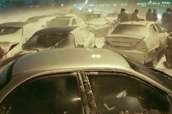 Ужасное массовое ДТП в Питере (13 фото)